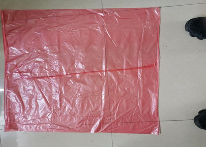 pink hot water soluble laundry bags for hospital linen, 60 L, 840 mm x 660 mm